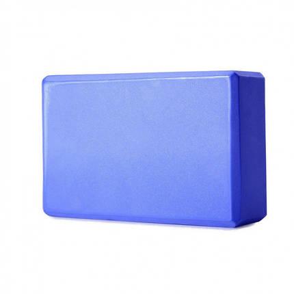 Блок для йоги, розтяжки (Синій), фото 2