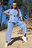 Спортивный трикотажный женский костюм оверсайз с футболкой и брюками (1365.4118-4128-4127-4126-4120 svt)