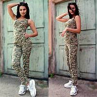 Женский костюм летний в стиле милитари