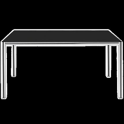 Стол Papatya Idea 140x80x75 хром, столешница черная, фото 2