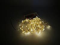 Светодиодная гирлянда для декора 10 м 100 led Теплый Белый