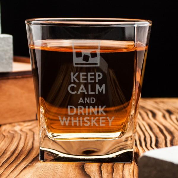 Стакан для виски Keep calm and drink whiskey 250 мл (5457)