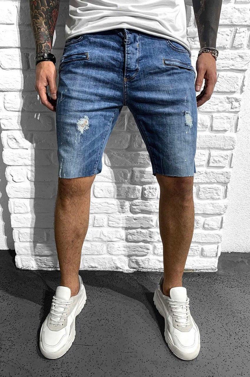 Чоловічі джинсові шорти сині Black Island 5237-3407