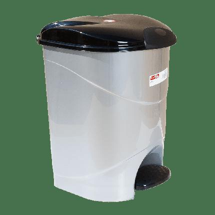 Ведро для мусора с педалью Irak Plastik Bella №2 19л серый металлик, фото 2