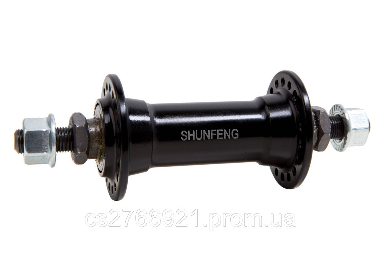 Втулка передняя AL 36H Vbr SHUNFENG SF-A201F черн. на гайках