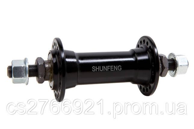 Втулка передняя AL 36H Vbr SHUNFENG SF-A201F черн. на гайках, фото 2