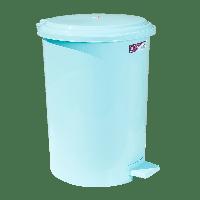 Ведро для мусора с педалью Irak Plastik №4 35л светло-зеленое