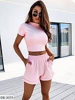Костюм женский топ и шорты красивый летний, фото 1