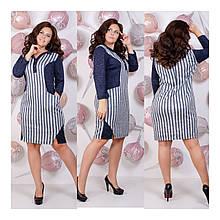 Платье теплое из рубашечного из ангоры, кроя со вставками визуально сужающие фигуру, р.52,54 050Й
