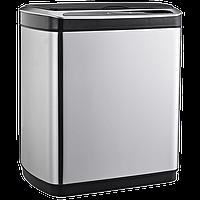 Сенсорное мусорное ведро JAH 20 л прямоугольное серебряный металлик с внутренним ведром