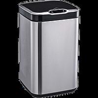 Сенсорное мусорное ведро JAH 13 л квадратное серебряный металлик с внутренним ведром