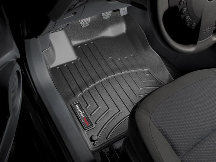 Ковры резиновые WeatherTech Nissan Qashqai 2006-2014 передние черные