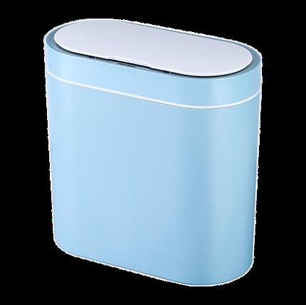 Сенсорное мусорное ведро JAH 8 л прямоугольное голубое, фото 2