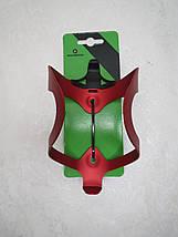 Флягодержатель Rockbros (красный) подфляжник алюминиевый, фото 2