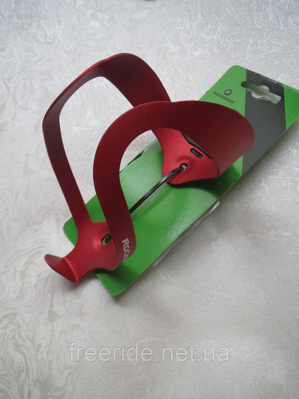 Флягодержатель Rockbros (красный) подфляжник алюминиевый
