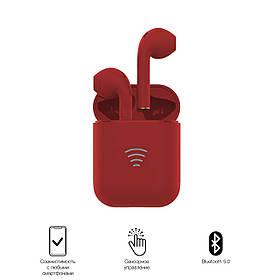 Беспроводные bluetooth наушники TWS V81 Красные