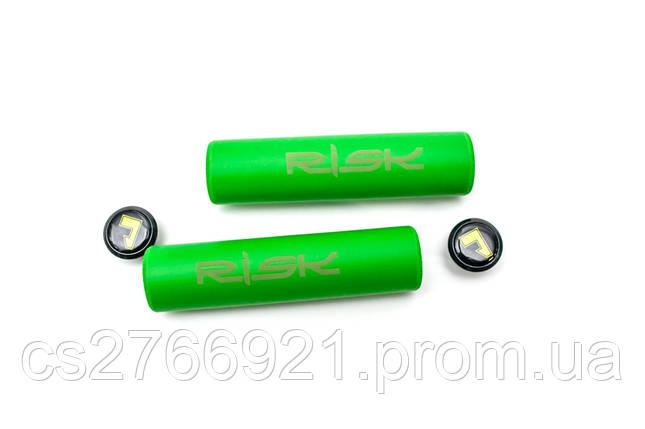 Грипсы гелевые L130mm салатовый RISK Silica Gel, фото 2