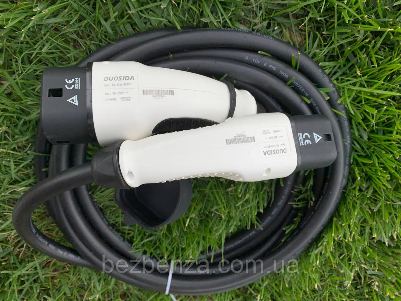 Зарядный кабель Nissan Leaf KHONE Type 2 to type 2 EV Cable--32 A 1phase