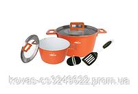 Набор посуды с керамическим покрытием - 4,5л\7л, фото 2