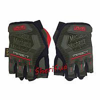 Перчатки тактические Mechanix Wear MPACT беспалые Olive XL