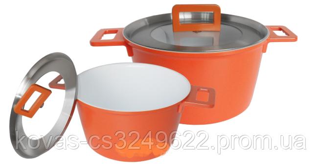 Набор посуды с керамическим покрытием - 4,5л\7л