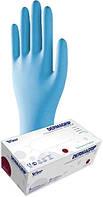 Перчатки Нитриловые WRP Dermagrip Nitrile Ultra Plus Powder Free 200/180 ШТ/УП Неопудренные Синие