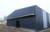 Построить металлический ангар 18х48 под склад, цех, магазин. Широкопролетные здания, двускат, сэндвич-панели.