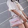 Прозрачная сумка с косметичкой Эрика 2в1, Силиконовый клатч с надписью, Женские мини сумки Опт 2020AL-3630-30, фото 5