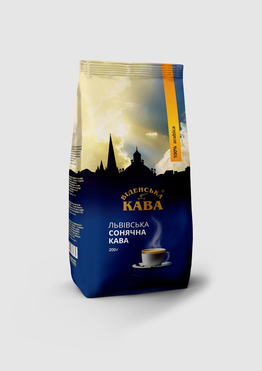 Віденська кава Львівська Сонячна кофе молотый 100 грамм