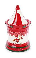 Банка Bona Карусель для новогодних сладостей 1.4 л Красно-белый