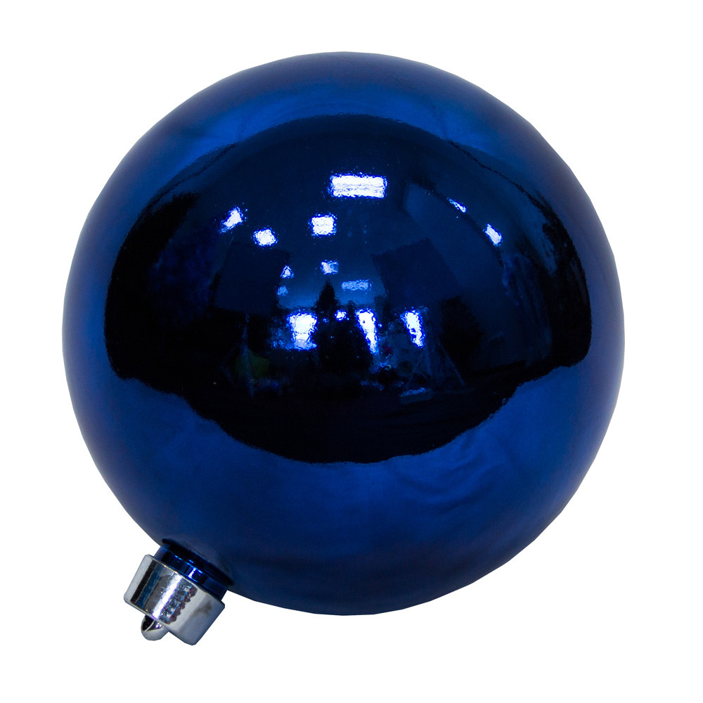 Большая елочная игрушка - шар, 40 см, пластик, синий (031405-2)