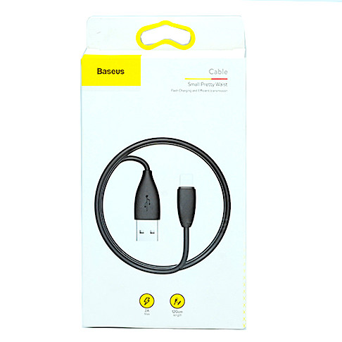 Кабель Baseus Small Pretty Waist Cable Lightning 1.2M (black) (CALMY-01)