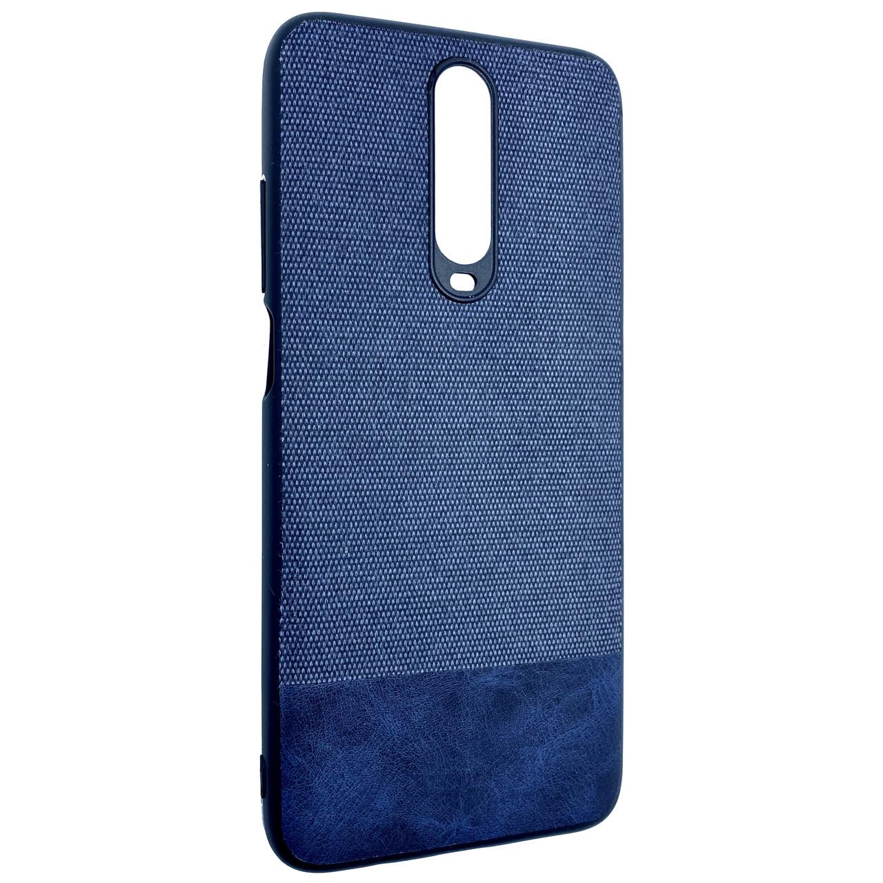Чехол DK Silicone Form Fabric Cotton Xiaomi Mi 10T / Redmi K30 (blue)