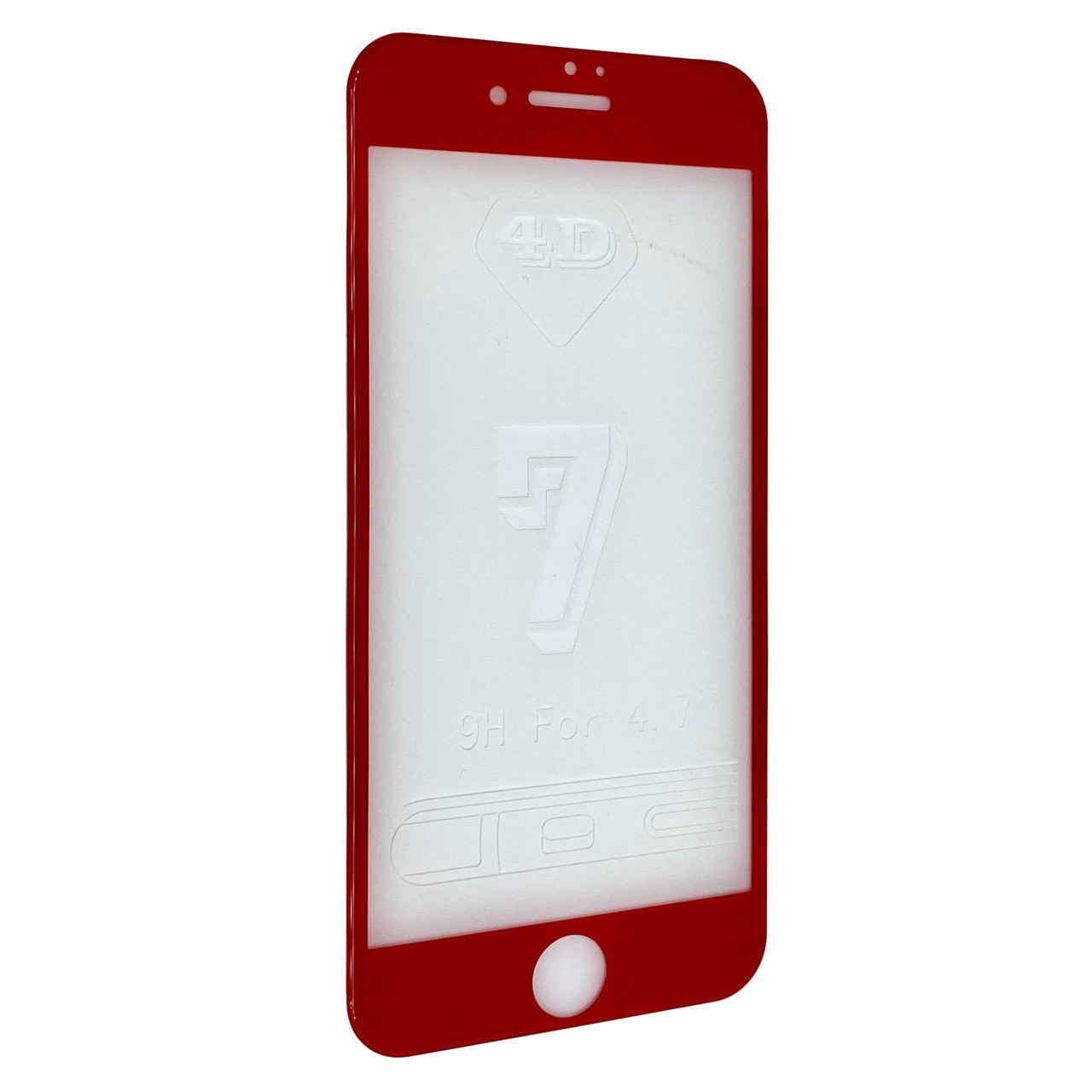 Захисне скло 3D купол for Apple iPhone 7 face (red)