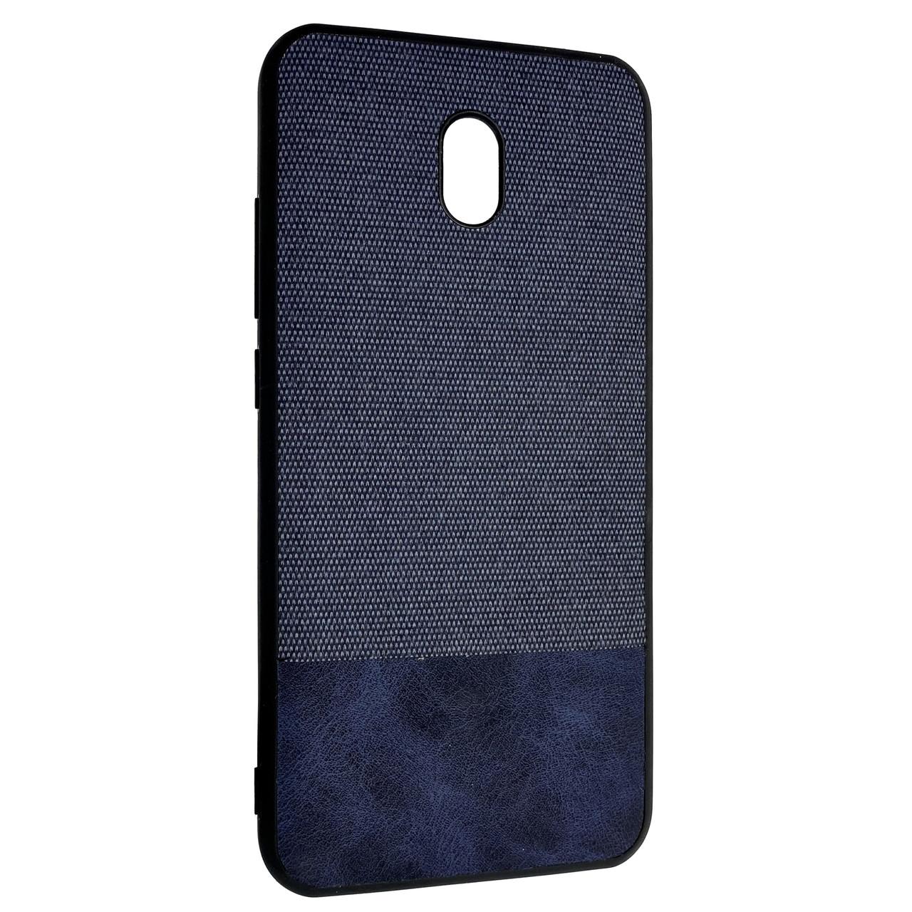 Чохол DK Silicone Form Cotton Fabric Xiaomi Redmi 8A (blue)
