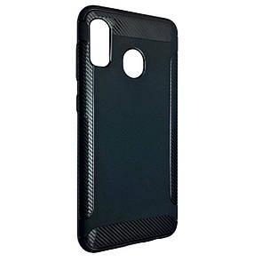 Чехол DK Silicone Carbon Soft Edge Samsung M40 (black)