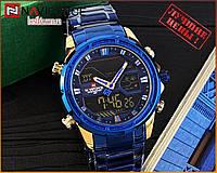 Оригинальные Мужские Наручные часы Naviforce NF9138S Blue-Cuprum
