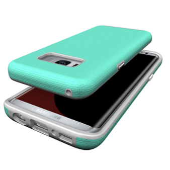 Чехол с силиконом Case Mate хром кнопки Samsung S8 (mint)