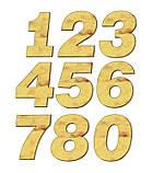 Формочка-вырубка для торта- цифры - Каждая цифра это две разделенных вырубки, фото 2