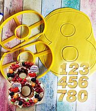 Формочка-вырубка для торта- цифры - Каждая цифра это две разделенных вырубки