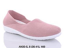 Балетки женские текстильные розовые LION AN30-5