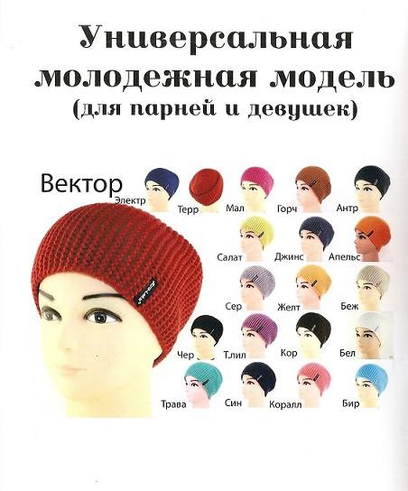 Стильная шапка Вектор