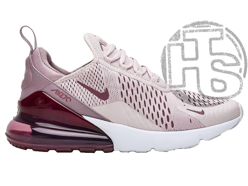Женские кроссовки Nike Air Max 270 Pink/Vintage Wine-White AH6789-601