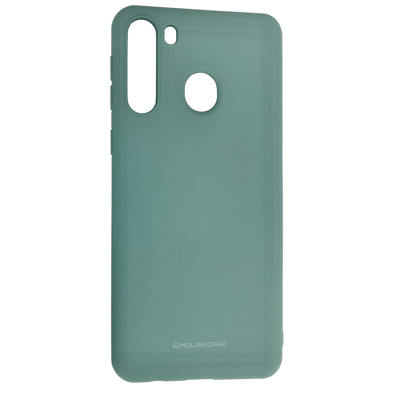 Чехол-накладка Silicone Hana Molan Cano SF Jelly для Samsung Galaxy A21 (SM-A215) (green)
