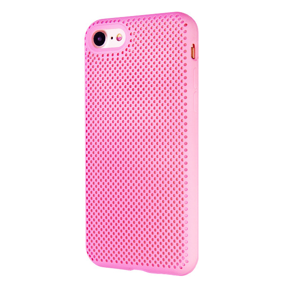 Чехол Silicone Case  Perforation for Apple iPhone 7/8 (pink)