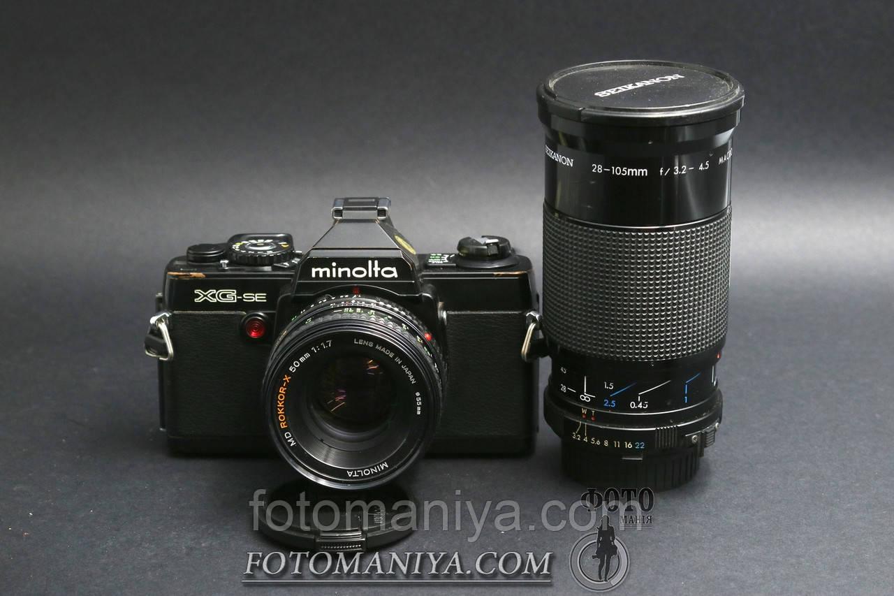 Minolta XG-se kit Minolta Rokkor-X 50mm f1.7 + Seikanon 28-105mm f3.2-4.5