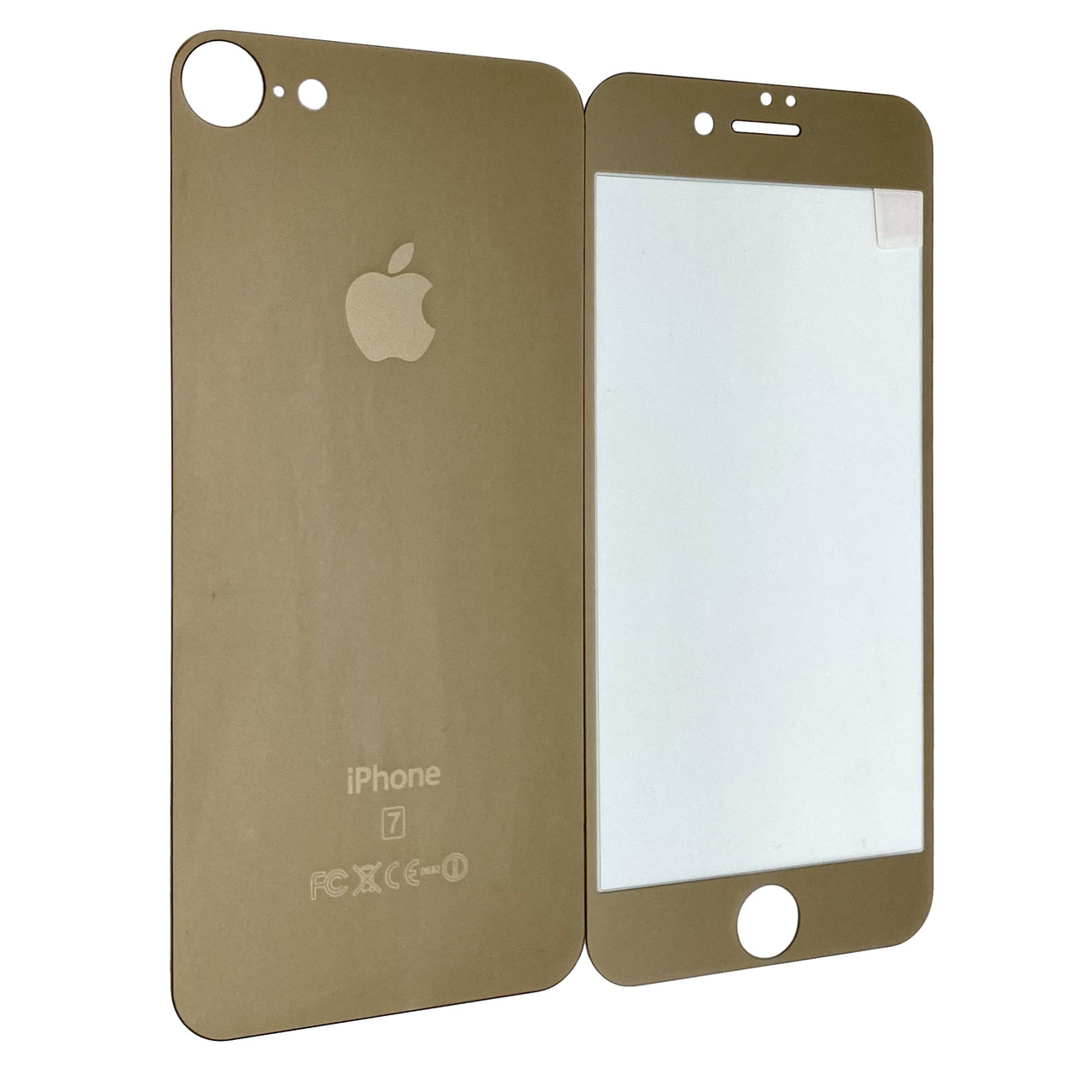 Захисне скло for Apple iPhone 7 matt back/face gold