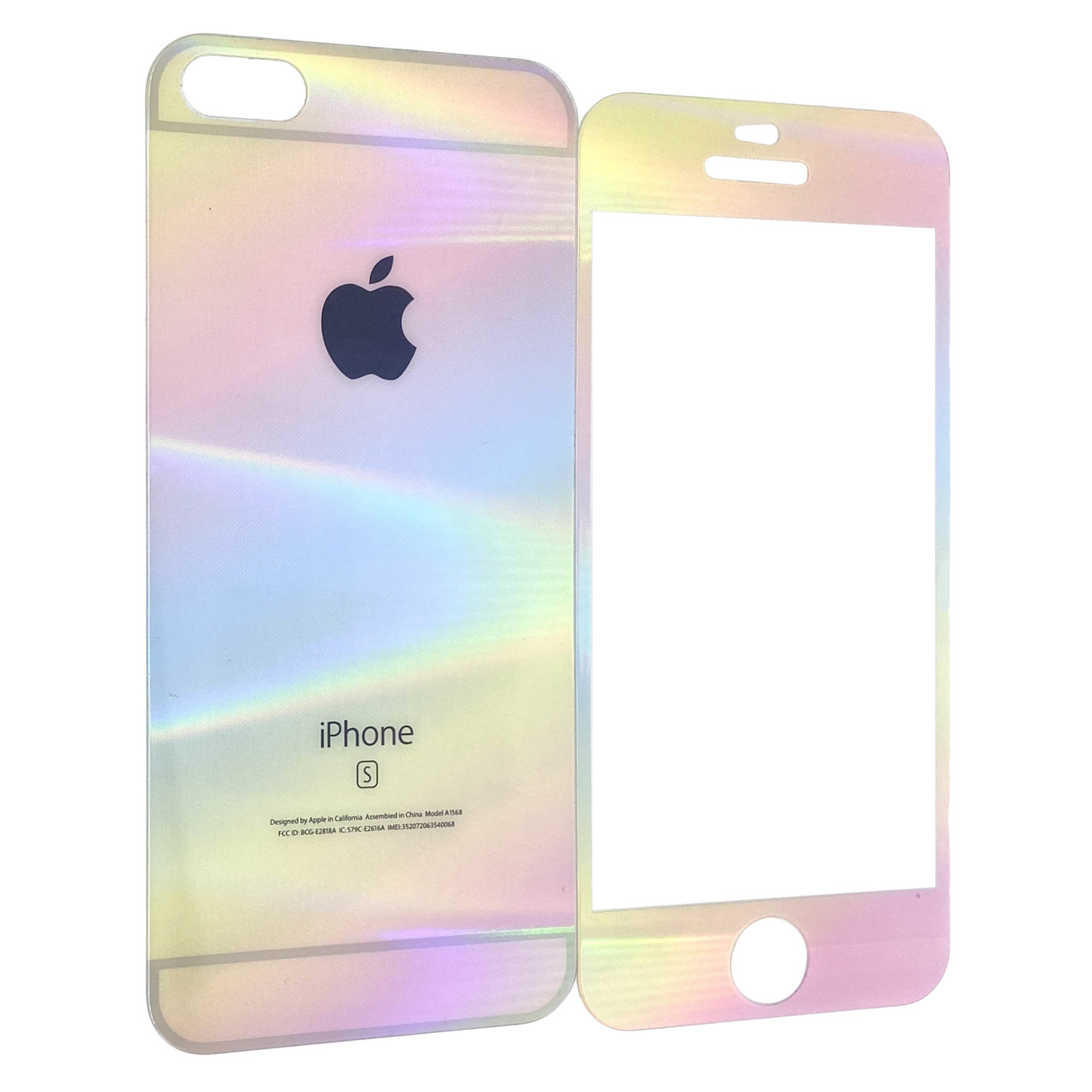 Захисне скло Apple iPhone 5/5S pearl back/face (multicolored)