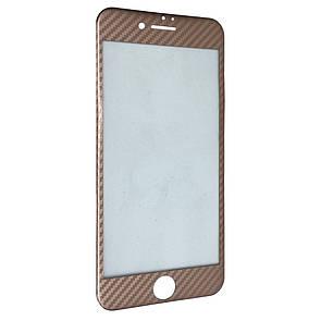 Защитное стекло  for Apple iPhone 7 Plus carbon плоский face rose gold