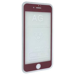 Защитное стекло  весь экран matt for Apple iPhone 7 Plus front (pink)